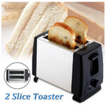 2 Slices Stainless Steel 6 Modes Automatic Electric Toaster Bread Baking Spit Driver Breakfast Sandwich Maker Machine