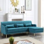 L shape simple design sofa
